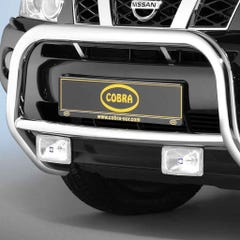Cobra EU 'A' Bar Stainless with Datime Running Lights for Nissan X-Trail Mk4