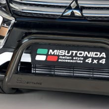 EU Front Bar 63mm Black Mach for Mitsubishi Eclipse (18 on)