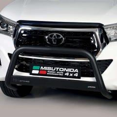 Front A Bar 63mm Black Mach Road Legal EU Crash Tested Toyota Hilux Mk8 (16-20)