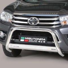 Front A Bar 63mm Stainless Mach Road Legal EU Crash Tested Hilux Mk8 (16-20)