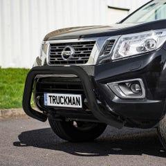 Front Bar 76mm Black Mach Road Legal EU Crash Tested Nissan NP300 (16 on)