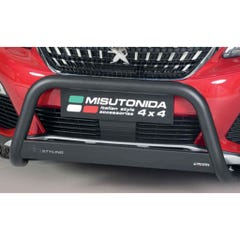 Front Bar 76mm Black Mach Road Legal EU Crash Tested Peugeot 3008 (16 on)