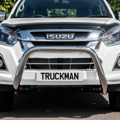 Front Bar 76mm Stainless Mach Road Legal EU Crash Tested D-Max Mk4-5 (12-20)