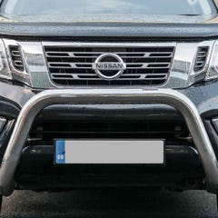 Front Bar 76mm Stainless Mach Road Legal EU Crash Tested Navara NP300 (16 on)