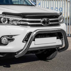 Front Bar 76mm Stainless Mach Road Legal EU Crash Tested Hilux Mk8 (16-20)