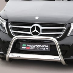 Stainless Steel Front Protection Bull Bar 63mm Mercedes V-Class (2014 Onwards)