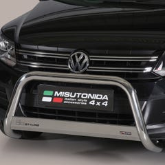 Front A Bar 63mm Stainless Mach Road Legal EU Crash Tested VW Tiguan Mk2 (11 on)