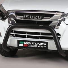 Black Front Protection Bull Bar 76mm Isuzu D-Max Mk4-5 (2012 - 2020)