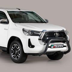 Black Front Protection Bull Bar 76mm Toyota Hilux Mk9 (2021 Onwards)