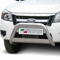 EU Nameplate Front Bar 76mm Stainless Mach for Ford Ranger Mk4 (09-12)