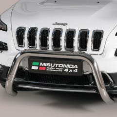 Stainless Steel Front Protection Bull Bar 76mm Jeep Cherokee Mk5 (2014 Onwards)
