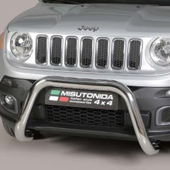 Stainless Steel Front Protection Bull Bar 76mm Jeep Renegade Mk1 (2014 - 2018)