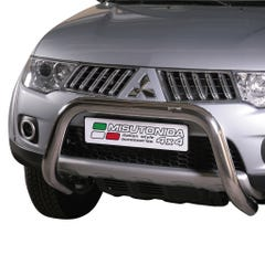 Stainless Steel Front Protection Bull Bar 76mm Mitsubishi L200 Long Bed Mk6 (2006 - 2009)