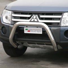 Stainless Steel Front Protection Bull Bar 76mm Mitsubishi Shogun Mk7 (2007 - 2014)