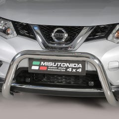 Stainless Steel Front Protection Bull Bar 76mm Nissan X-Trail Mk5 (2015 Onwards)