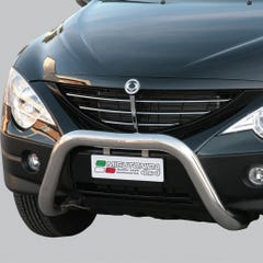 Stainless Steel Front Protection Bull Bar 76mm SsangYong Actyon Mk1 (2007 Onwards)