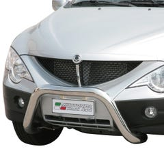 Stainless Steel Front Protection Bull Bar 76mm SsangYong Actyon Sports Mk1 (2007 Onwards)