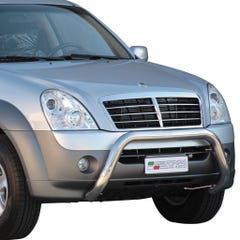 Stainless Steel Front Protection Bull Bar 76mm SsangYong Rexton Mk3 (2006 - 2012)
