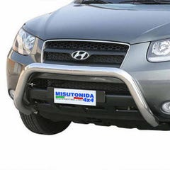 Front Bar 76mm Stainless Mach for Hyundai Santa Fe Mk2 (05 on)