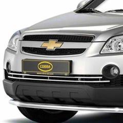 Front Spoiler Guard Stainless Cobra for Chevrolet Captiva Mk1