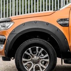 Wheel Arch Extension Kit Matt Black Bolt On Look for Ford Ranger Mk6 (16-19) DC