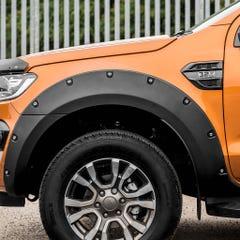 Wheel Arch Extension Kit Matt Black Bolt On Look Ranger Wildtrak Mk7 (19 on) DC