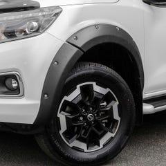 Wheel Arch Extension Kit Matt Black Bolt on look Nissan Navara NP300 (16 on) DC