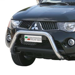 Stainless Steel Front Protection Bull Bar 76mm Mitsubishi L200 Mk6 (2006 Onwards)