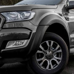 Wheel Arch Extension Kit Matt Black Toyota Hilux Mk9 (2020 Onwards) Double Cab