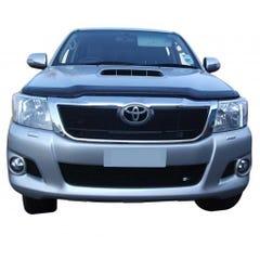 Front Upper Lower & Side Grille Set Black Toyota Hilux Mk8 (4 Pcs.)