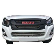 Front Upper, Lower & Centre Grille Set Silver Isuzu D-Max Mk4 (15 - 20) (3 Pcs.)