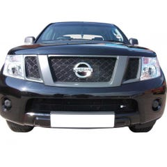 Front Upper & Lower Grille Set Silver Nissan Navara D40 Mk1 (2 Pcs.)