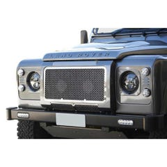 Front Upper and Side Grille Black Landrover Defender (83 on) (3 Pcs.)