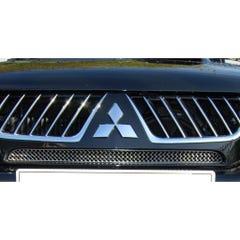 Front Upper Grille Set Silver Mitsubishi L200 Mk8 (15 On)