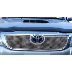 Front Upper Grille Silver Toyota Hilux Mk8 (1 Pcs.)