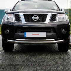 Stainless 76mm Twin Tube Front Bumper/Spoiler Protector for Nissan D40/Navara