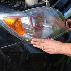 Headlamp Protectors Airplex for Hyundai Santa Fe Mk2 (05 on)