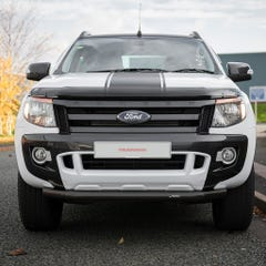 Front Spoiler Protector Black Mach for Ford Ranger Mk6-7 (16 on)