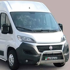 Front Spoiler Protector 76mm Stainless Mach for Ducato (2006 on)