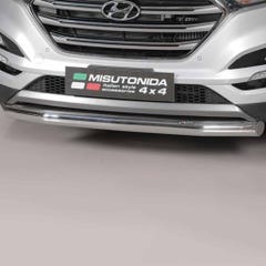 Front Spoiler Protector Stainless Mach for Hyundai Tuscan Mk2 (15 on)