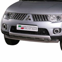 Front Spoiler Protector Stainless Mach for Mitsubishi L200 ECab Mk7 (10-16)