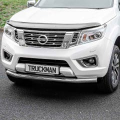 76mm Front Spoiler Protector Stainless Mach Nissan Navara NP300 (16 on)