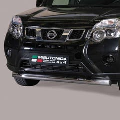 Front Spoiler Protector 76mm Stainless Mach for Nissan X-Trail Mk4 (11-14)