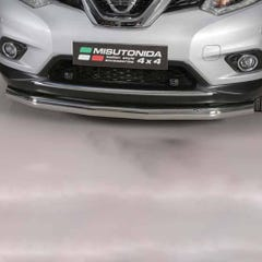 Front Spoiler Protector 76mm Stainless Mach for Nissan X-Trail Mk5 (15 on)