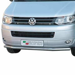 Front Spoiler Protector 63mm Stainless Mach for Volkswagen T5 Mk2 (09 on)