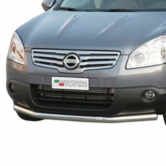 Front Spoiler Protector 63mm Stainless Mach Qashqai+2 (08 on) LARGE/229/IX