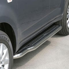 Pair of Side Steps with Bars 50mm SS Mach for Daihatsu Terios Mk3 ( 06 on)