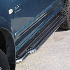 Pair of Side Steps with Bars 50mm SS Mach for Isuzu Trooper (96 on) SWB