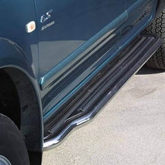 Pair of Side Steps with Bars 50mm SS Mach for Isuzu Trooper (96 on) LWB