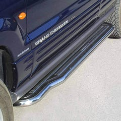 Pair of Side Steps with Bars 50mm SS Mach for Jeep Grand Cherokee ZG Mk2 (96-99)